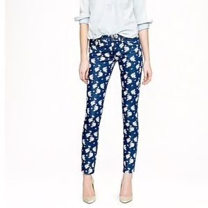 J. Crew Floral Cropped Matchstick Jeans
